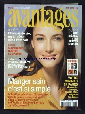 AVANTAGES [No 217] du 01/10/2006