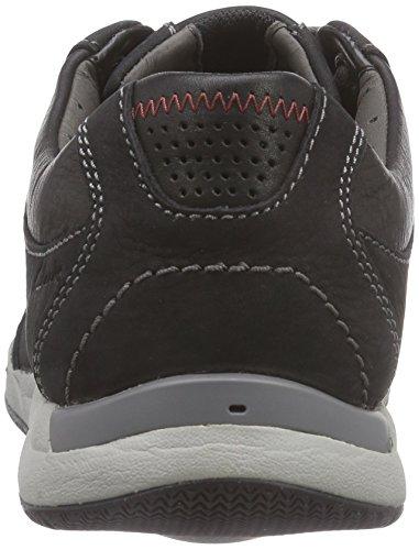 Clarks Herren Javery Edge Sneaker Schwarz (Black Nubuck)