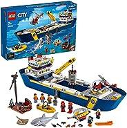 LEGO 60266 City Oceans Hav – utforskarskepp, Byggsats med Båtar och Minifigurer för Barn 7+ år