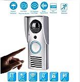 Ludage Video-Gegensprechanlage Türklingel WIFI Smart Wireless Video-Türsprechanlage Glockenkamera Nachtsicht Bewegungserkennung Zwei-Wege-Audio