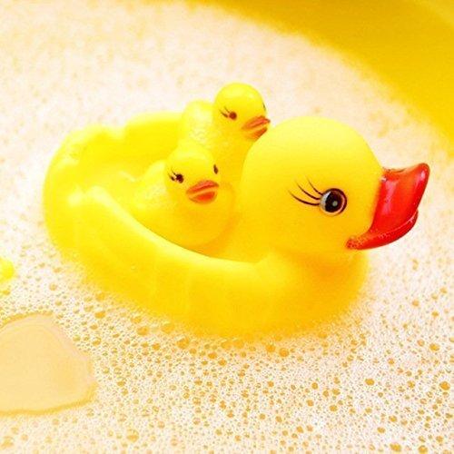 KISMIS Bath Toys Non-Toxic Animal Shape Soft Toys for Baby Kids Bath Toys Chu Chu 15 Piece Set, Multi Color (4 PC SET)