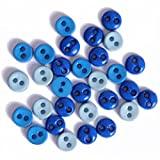Impex Mini Buttons for Crafts Round Blue 2gms