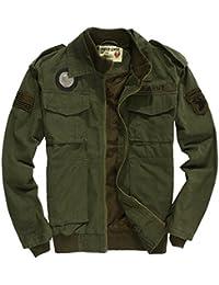 SZYYSD Hombres Algodón Militar de la fuerza aérea Bomber chaquetas del  ejército ... 658e9ac3972f7