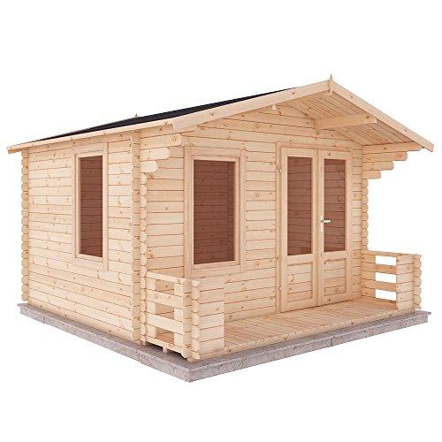 3.4m x 3.3m Log Cabin Studio wit...