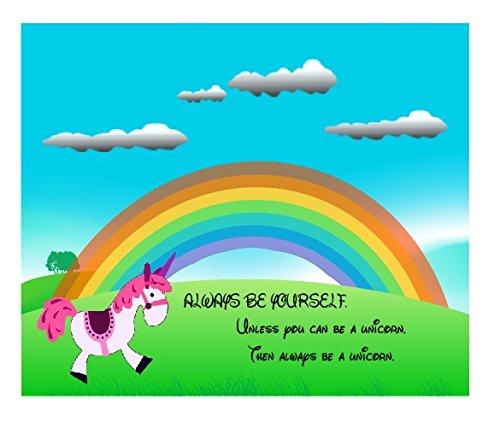 Always Be Yourself Unless You Can Be a Unicorn Arcobaleno funnymousemat/Pad antiscivolo Computer PC Tappetino per Mouse in gomma spessa di qualità morbido al tatto