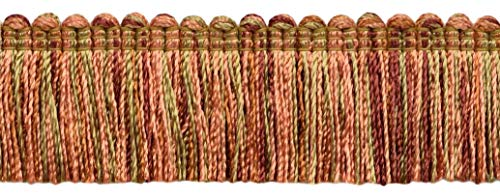 DecoPro 4,6 Meter Vorteilspackung Kamelgold, Hellrosa, Kürbis, Terra Cotta 38 mm Basic Trim Brush Fringe, Style # 0150SB-RYN (9875), Farbe: Desert Sand - PR21 (4,6 m) -