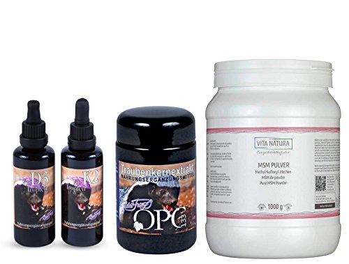 Robert Franz - OPC (60 Kapseln) + Vitamin D3 (50 ml) + Vitamin K2 (50 ml) + Vita Natura MSM (1kg)