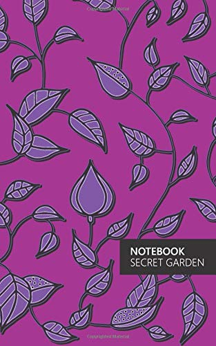 Notebook - Secret Garden: (Electric Pink Edition) Fun notebook 96 ruledlined pages (5x8 inches  12.7x20.3cm  Junior Legal Pad  Nearly A5)