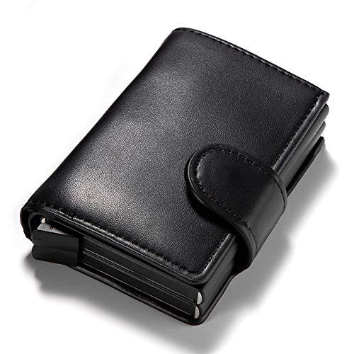 Vektenxi Einzelkartenkarton-Paket Mini-Brieftasche aus Aluminium Automatische Kartenkarton-Herrenbrieftasche