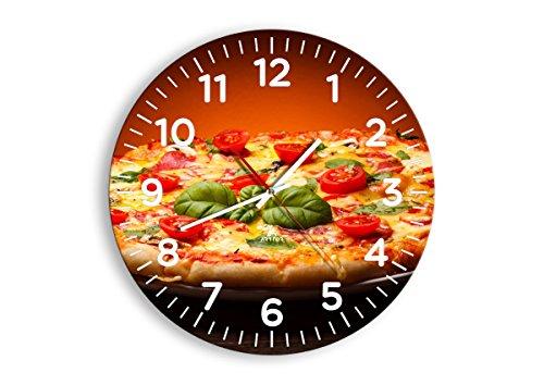 Horloge Murale - Ronde - Horloge en Verre - Pendule murales - 40x40cm - 2717 - Mécanisme d'écoulement - Silencieux - prete a Suspendre - Moderne - Décoration - Pret a accrocher - C4AR40x40-2717