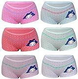 752856cd73 6 Pack Kinder Mädchen Baumwolle Pantys Boxer Unterhose Panty Unterwäsche  Boxershorts Slips Schlüpfer 2-16