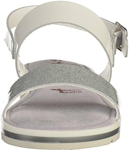 Tamaris1-1-28122-28-191 - Scarpe con cinturino alla caviglia Donna Weiß(Weiß/Silber)
