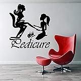 yiyiyaya Wandtattoo Beauty Salon Nagelstudio Pediküre Maniküre Day Spa Design Nailart Vinyl Aufkleber Wohnkultur Fensteraufkleber grau 42X44 cm