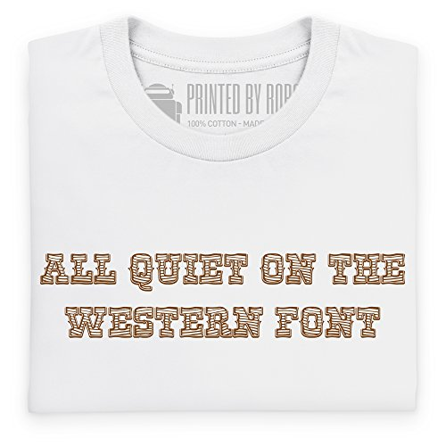 Western Font T-shirt, Uomo Bianco