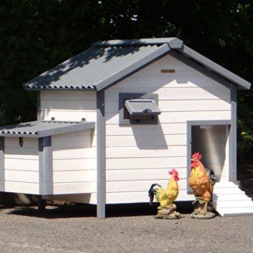 Hühnerstall Lotte met Kunststof Dach und Schußlade 136x85x99cm