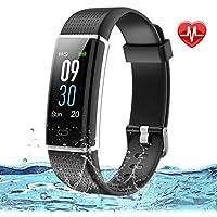 Lintelek Fitness Armband Fitness Tracker Smartwatch wasserdichter IP67-Schrittzähler Aktivitäts-Tracker für Herzfrequenzmonitor mit angeschlossenem GPS-Tracker, Schrittzähler, Schlafmonitor,Fitness Uhr