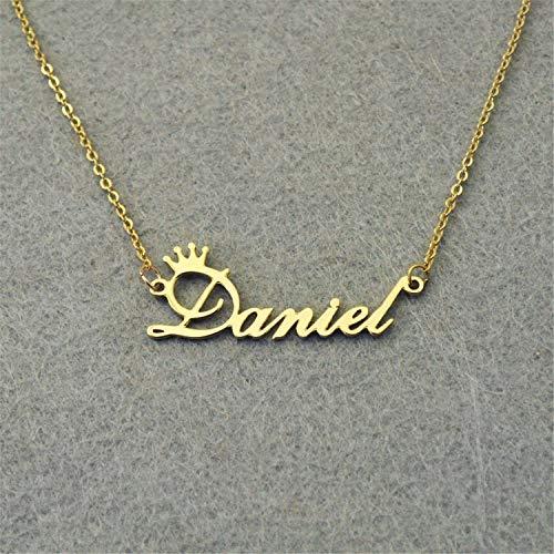 Personalisierte Halskette mit Namensanhänger, personalisierbarer Name, Silberfarben NN-ChineseH-XX 45 cm