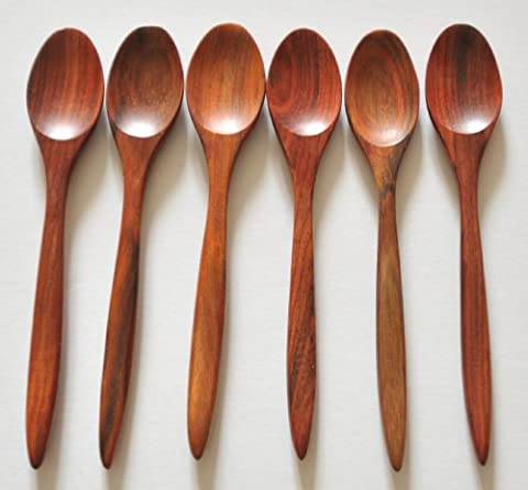 set of 6 Wooden Rosewood Coffee