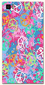 Significant multicolor printed protective REBEL mobile back cover for Xiaomi Mi 3 D.No.N-T-4662-XM3