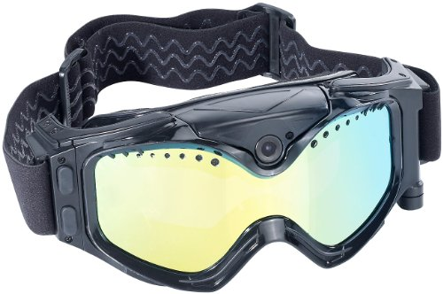 Somikon Skibrille mit Kamera: Premium Skibrille mit integrierter HD-Action-Cam (Skibrillen Actioncams)