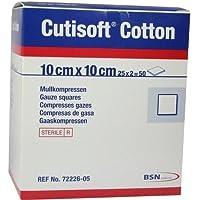 CUTISOFT Cotton Kompr.10x10 cm steril 50 St Kompressen preisvergleich bei billige-tabletten.eu