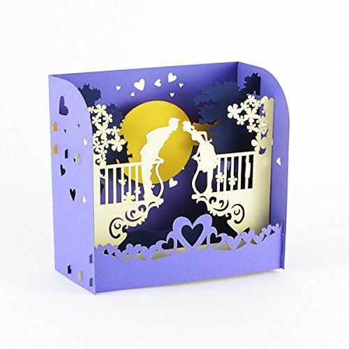 Romantik, Wunderkarte, Hochzeitskarte, Gutschein, Reisegutschein, 3D Karte, Einladung,...