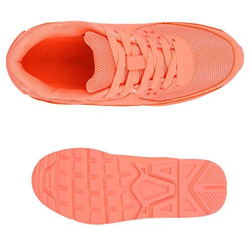 Stiefelparadies Trendige Unisex Laufschuhe Damen Herren Kinder Sportschuhe Metallic Glitzer Camouflage Sneaker Bunt Schnür Sport Turnschuhe Flandell Peach