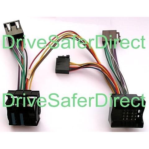 INKA-902804-41-3A ISO SOT - Cable manos libres para Parrot CK3100, CK3200, MKi9100, MKi9200 y otros lotes de manos libres ISO para vehículos (compatible con BMW serie 1, BMW serie 3 E46, BMW serie 5 E90, E91, E92 y E93, BMW serie 5 E39, BMW serie 5 E60 y E61, BMW serie 6 E63 y E64, BMW X3 E83, BMW X5 E53, BMW X5 E70, BMW X6 E71, BMW Z4 E85 y E86, BMW Z8