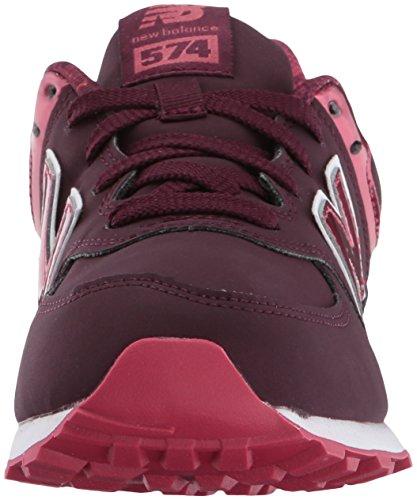 New Balance 574 High Visibility, Baskets Basses Mixte Enfant red