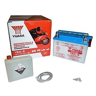 Yuasa YB4L-B(CP) Motorradbatterie (inkl. Säurepack), 121x71x93 mm, 12 V