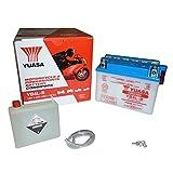 Yuasa YB4L-B(CP) Motorradbatterie (inkl. Säurepack),121x71x93 mm, 12 V