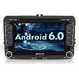 """Pumpkin 7"""" Pantalla Táctil Digital 1080P HD Android 6.0 Reproductor de DVD Auto Radio con GPS Navegador para Coche Seat, Jetta, Golf, Passat, Polo, Skoda Series"""