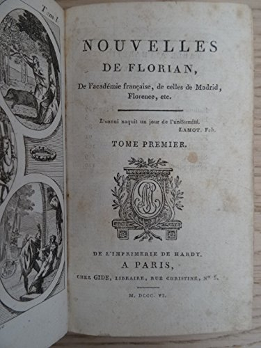 Nouvelles, De l'academie francaise, de celles de Madrid, Florence, etc. 2 Bde. in 1 Bd. Paris, Gide, 1806. 208; 250 S. Mit 2 gestoch. Frontisp. Kl.-8°. Ldr. d. Zt. mit RVerg., 2 RSch. u. goldgepräg. Deckelfileten (bestoßen u. etw. beschabt). (250/2 Pc)