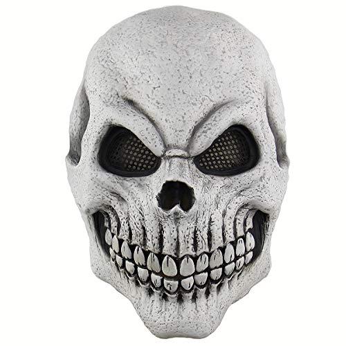 BESTOYARD Halloween Skeleton Maske Cosplay Maske Horrific Maske Creepy erschreckende Ritter Halloween Cosplay Kostüm Zubehör