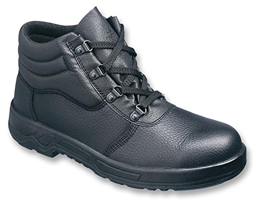 Chukka Safety Boots, Black Size 8
