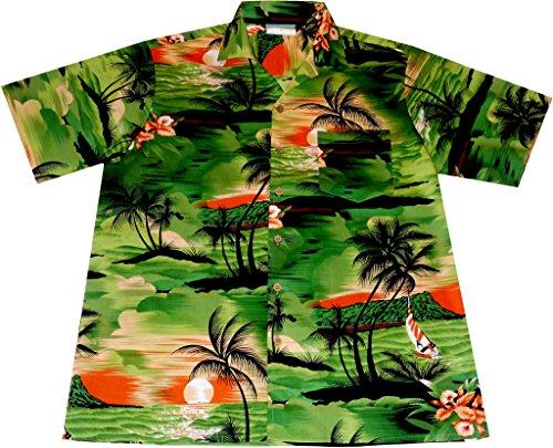 Camisa-Hawaiana-Hombre-Night-on-Hawaii-100-algodn-tamao-M
