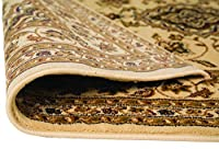 Quality Traditional Classic Beige Rug, Runner (60x230cm (2'x7'7'') Runner, Beige) Carpet from Lord of Rugs