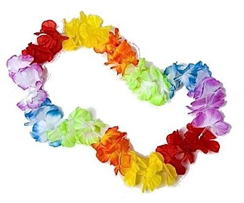 Festartikel Müller Blütenkette bunt Hawaii Hawaiikette Hula Tänzerin