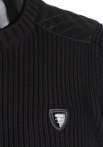Cipo & Baxx Herren Pullover Tricot CP108 Schwarz