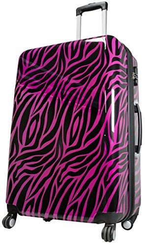 Koffer Trolley Zebra Pink Reisekoffer Hartschale 4,9 kg Hartschalenkoffer 94 Liter 77x51x30 cm