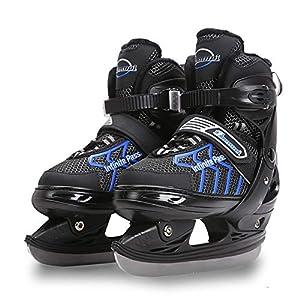 Kupe Jungen Hockey Schlittschuhe, Adult Anfänger Premium Einstellbare Schlittschuhe, Polsterung und verstärkte Knöchelunterstützung Spaß beim Schlittschuhlaufen