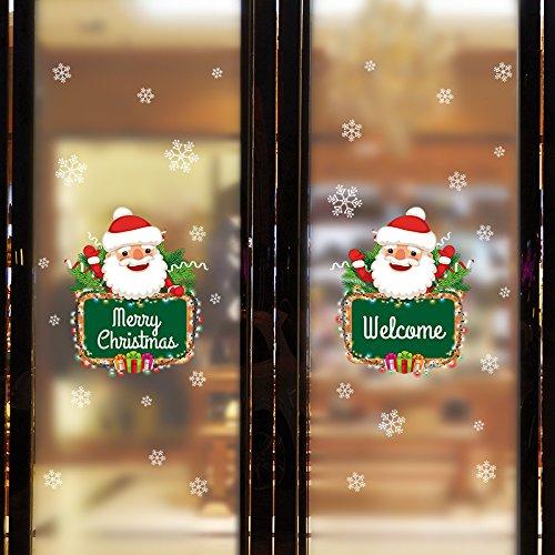 Christmas Snowman Bogen Schneeflocke Flattern Ah Schwimmende Wohnzimmer Schlafzimmer Schaufenster Dekorativen Wand Aufkleber Aufkleber Einfach Elegant Und Warm Romantische Pvc-landschaftspflanzen -