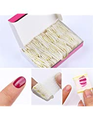 Born Pretty 50Pcs Nail Art Polish Remover Bandage UV Gel Lacquer Cleanner Self-adhesive Cotton Manicure UV Gel Remove Tool