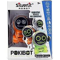 SilverLit - 88529 - Pokibot - Mini Robot interactif de Poche - modèle aléatoire