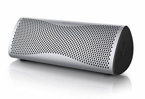 KEF MUO - Meilleures enceinte portable bluetooth - Argent clair | Enceinte portable | Enceinte extérieur | Meilleure enceinte Bluetooth pour PC et ordinateur portable | avec batterie longue durée.