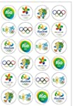 24 Precut 40mm Round Rio 2016 Olympic...