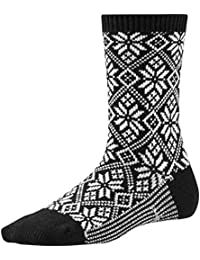 Smartwool Damen Traditionelle Schneeflocke Socken–Schwarz