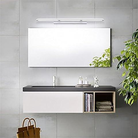 WQRTT® Miroir de bain Lampe avant Lampes murales de bain LED Aluminium + Acrylique Imperméable Anti-brouillard Lumières de maquillage étanches à l'humidité Lumière de lecture Simple Modern Home Home Énergie murale Éclairage d'armoire , cold light , 120cm