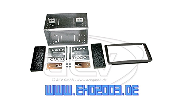 2 Din Radioeinbauset Blende Radioanschlusskabel Antennenadapter Komplettset Für Kia Ceed Sw Pro Ed 2007 2011 Schwarz Auto