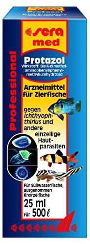 sera 02180 med Professional Protazol 25 ml - Arzneimittel für Zierfische gegen einzellige Hautparasiten, wie den Erreger der Pünktchenkrankheit